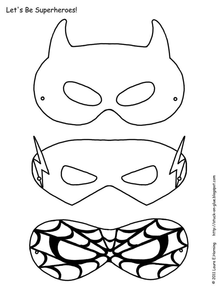 Maskers knutselen – gratis download!